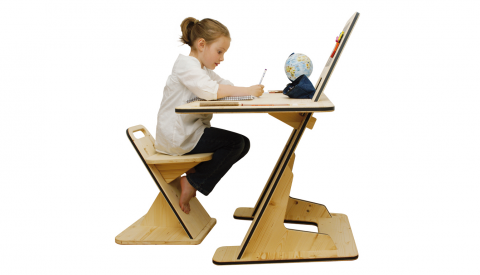 Az desk un bureau codesign qui s 39 oppose l 39 obsolescence programm e my eco design - Bureau enfant evolutif ...