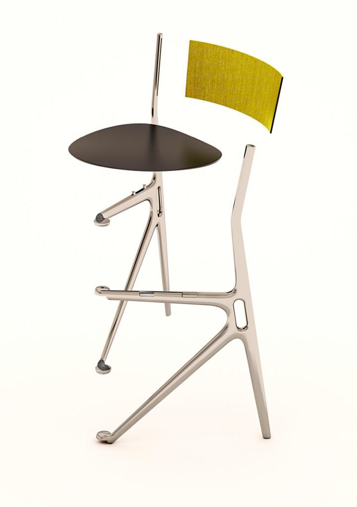 une chaise design et pliable comme un livre design by. Black Bedroom Furniture Sets. Home Design Ideas
