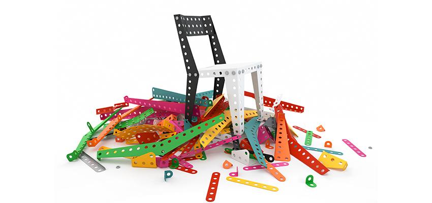Meccano home nouvelle marque de mobilier en kit inspir e - Montage meuble en kit ...