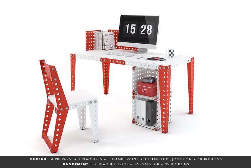 Meccano home nouvelle marque de mobilier en kit inspirée des