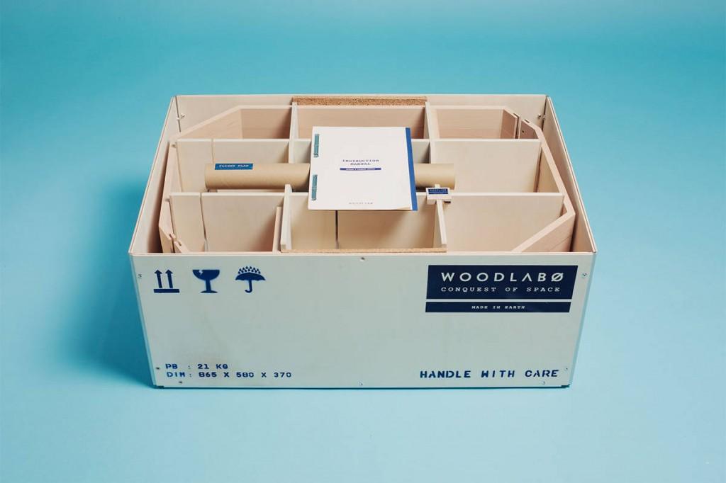 Le packaging de Woodlabo est compacte pour limiter son impact environnemental.