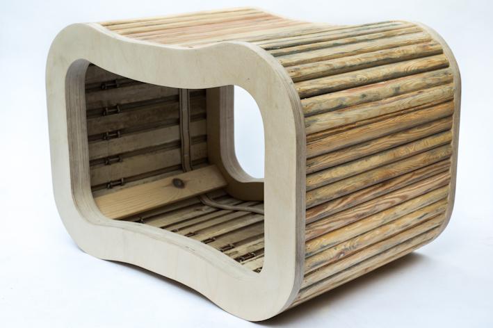 upcycling un banc design con u partir de volets roulants my eco design. Black Bedroom Furniture Sets. Home Design Ideas